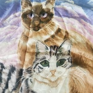2/$65 Vintage Beyeler cat scarf